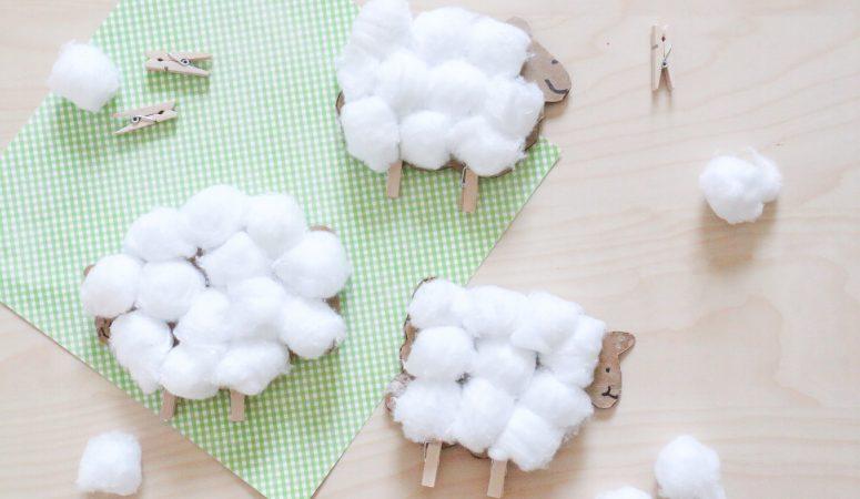 Cardboard Sheep Craft