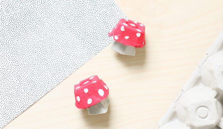 Egg Carton Mushroom Craft