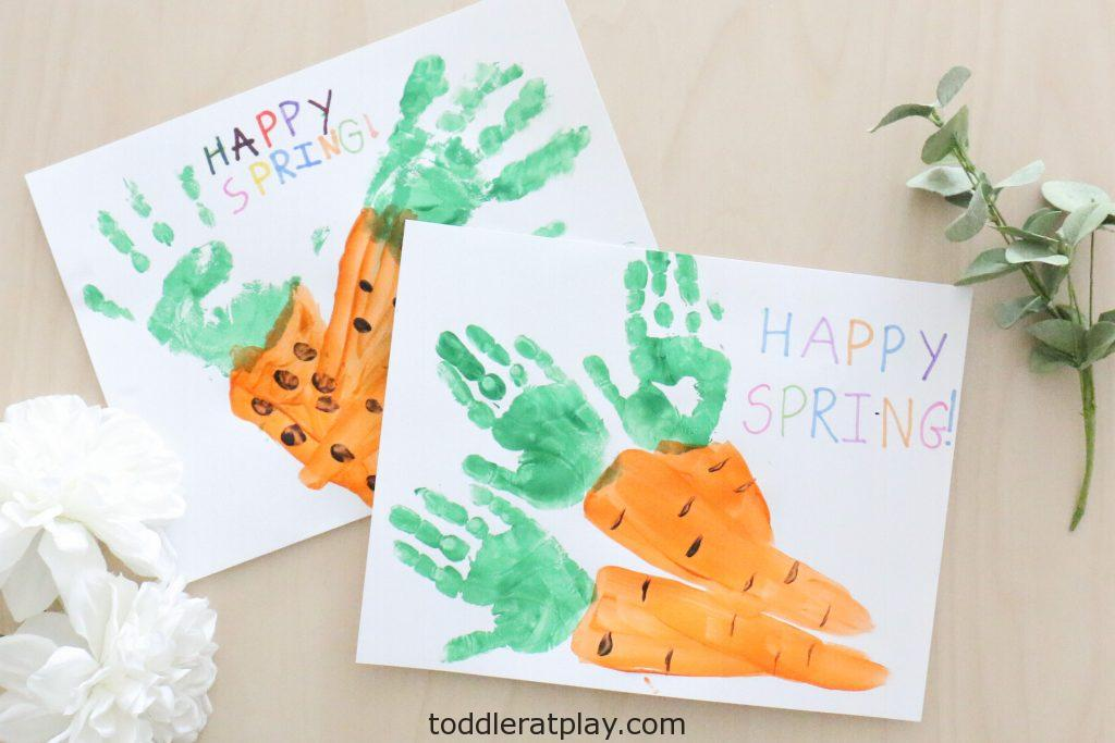 handprint carrot craft- toddler at play (4)