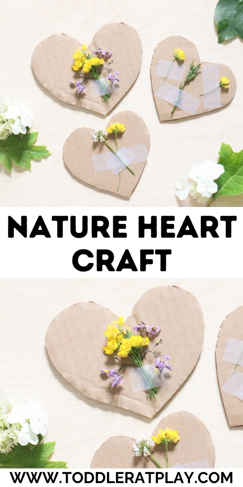 nature heart craft- toddler at play (1)