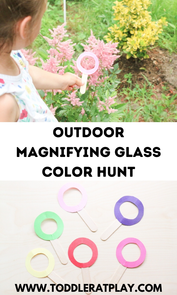 outdoor magnifying glass color hunt - toddler at play (8)