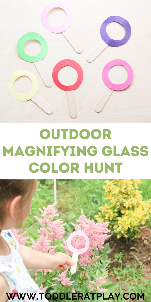 outdoor magnifying glass color hunt - toddler at play (9)