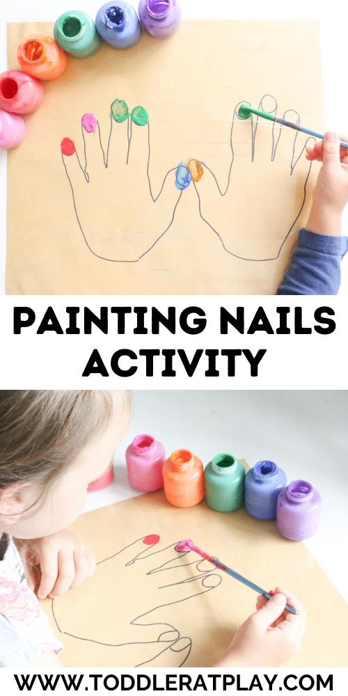 painting nails activity - toddler at play (1)