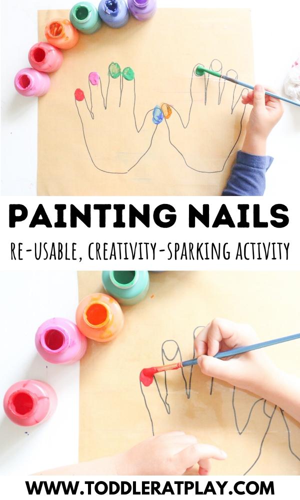 painting nails activity - toddler at play (6)