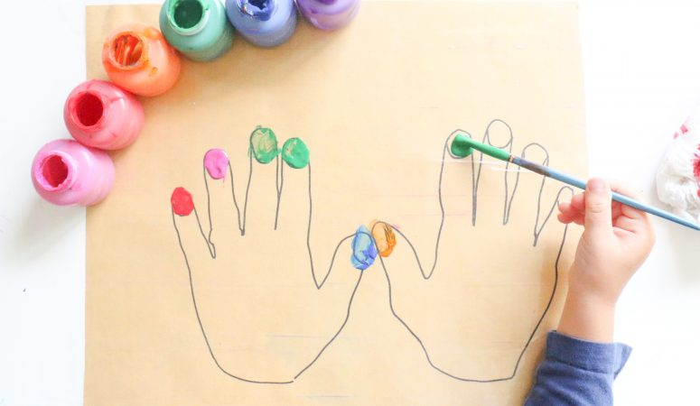 Wipeable Painting Nails Activity