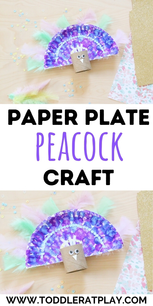 paper plate peacock craft- toddler at play (1)