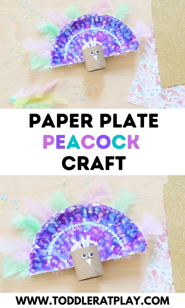 paper plate peacock craft- toddler at play (2)