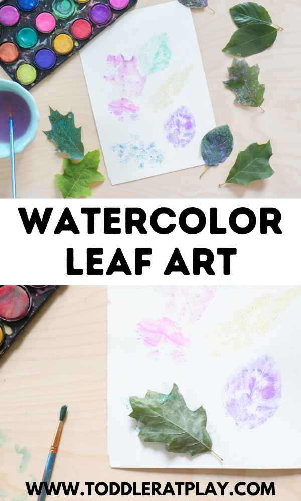 watercolor leaf art - toddler at play (2)
