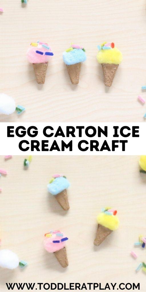 egg carton ice cream craft- toddler at play