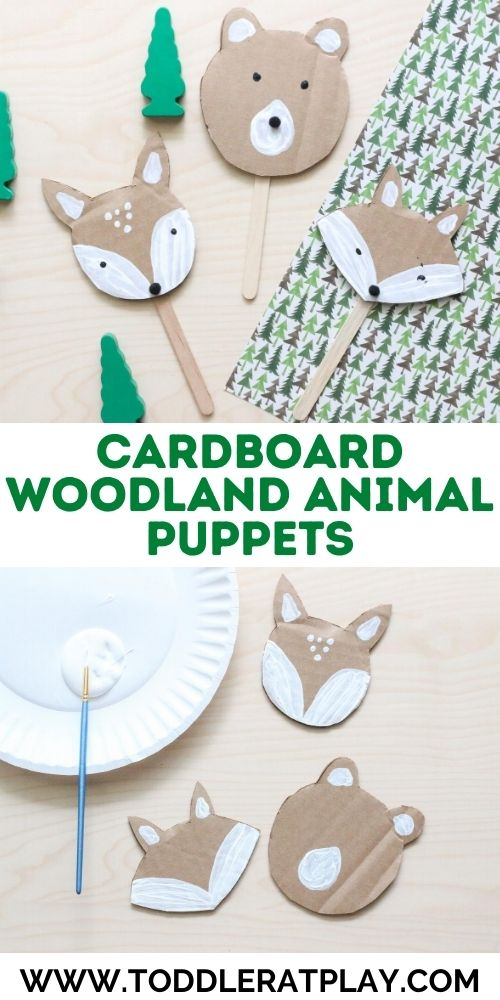 cardboard woodland animal puppets - toddler at play (2)