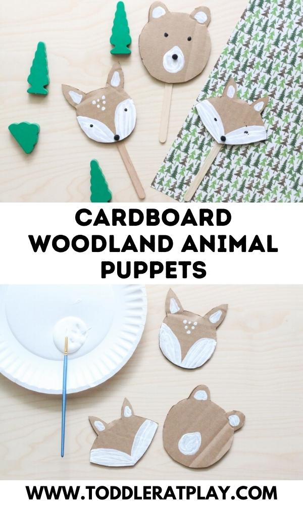 cardboard woodland animal puppets - toddler at play (3)