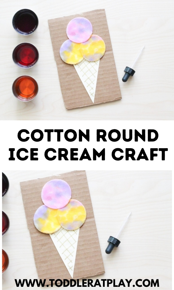 cotton round ice cream craft - toddler at play (6)