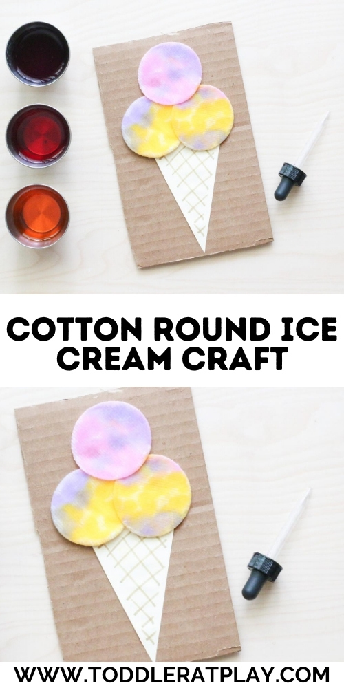 cotton round ice cream craft - toddler at play (4)