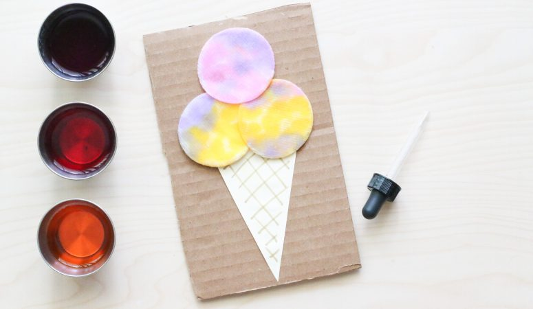 Cotton Round Ice Cream Craft