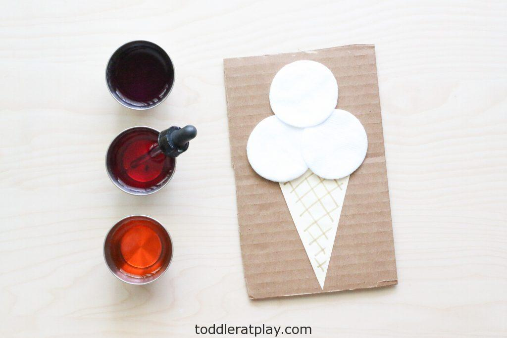 cotton round ice cream craft - toddler at play (2)