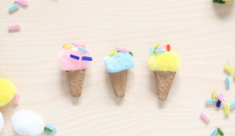 Egg Carton Ice Cream Craft