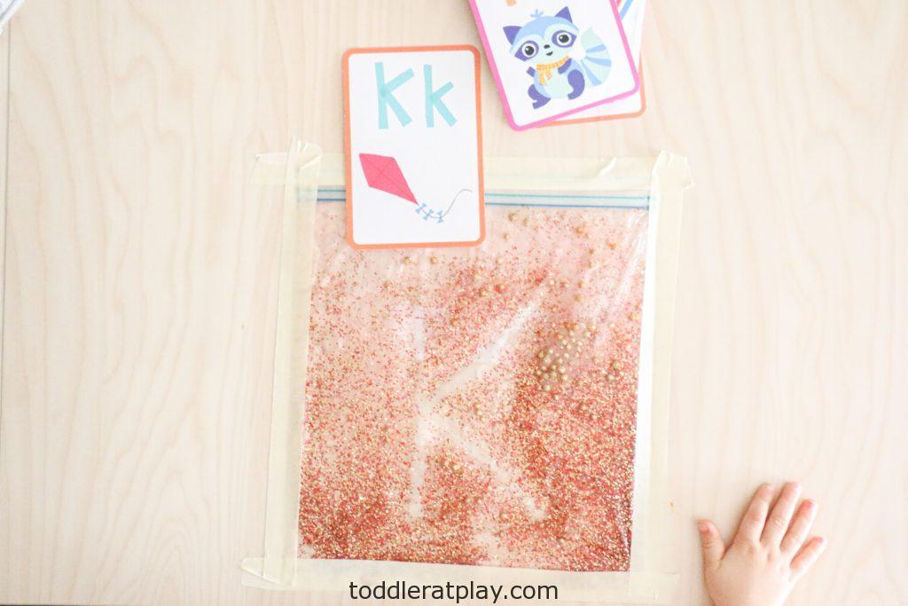 glitter sensory writing pad- toddler at play (13)