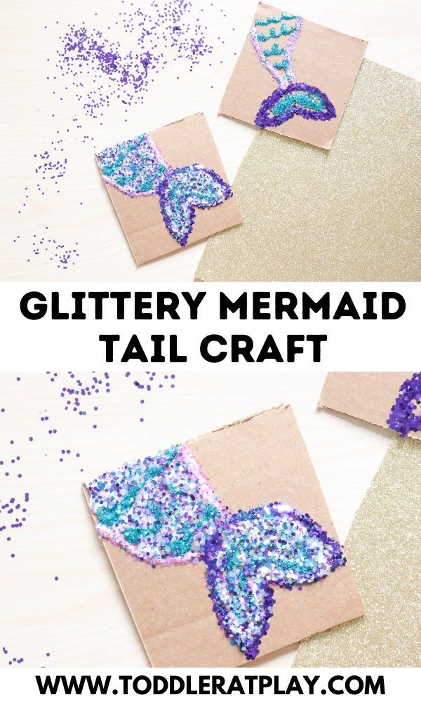 glittery mermaid tail craft - toddler at play (1)