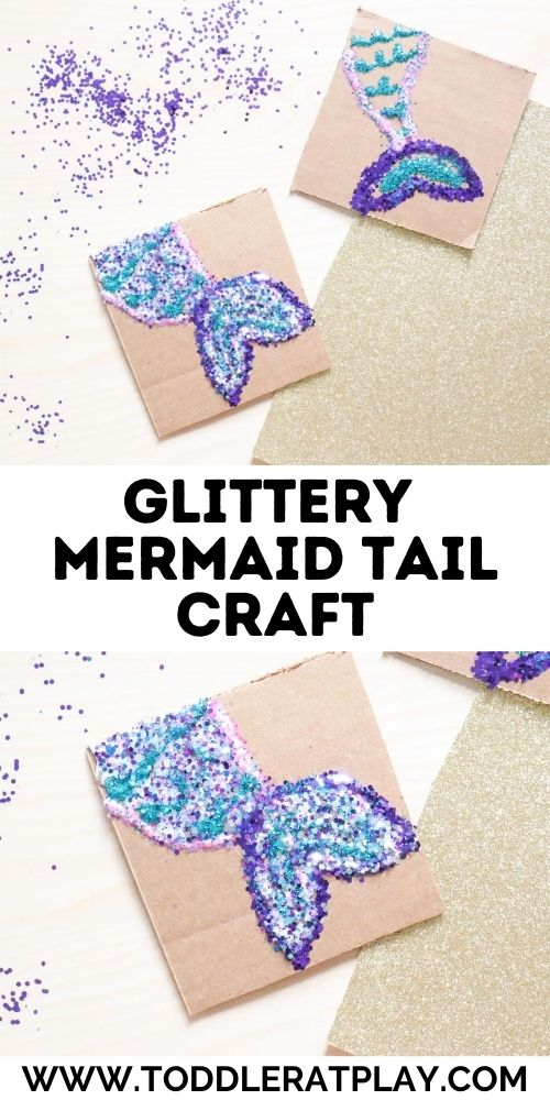 glittery mermaid tail craft - toddler at play (2)