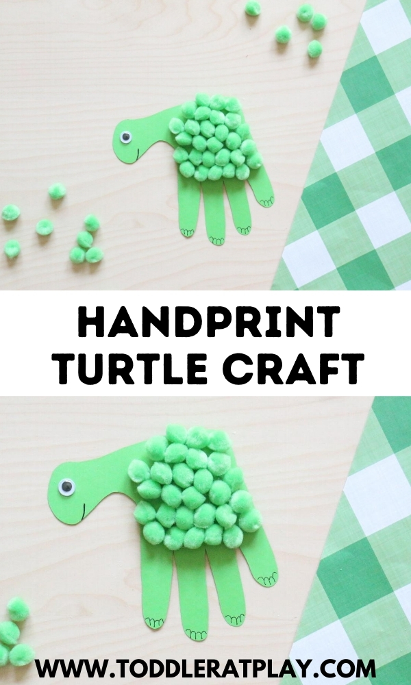 handprint turtle craft - toddler at play (1)