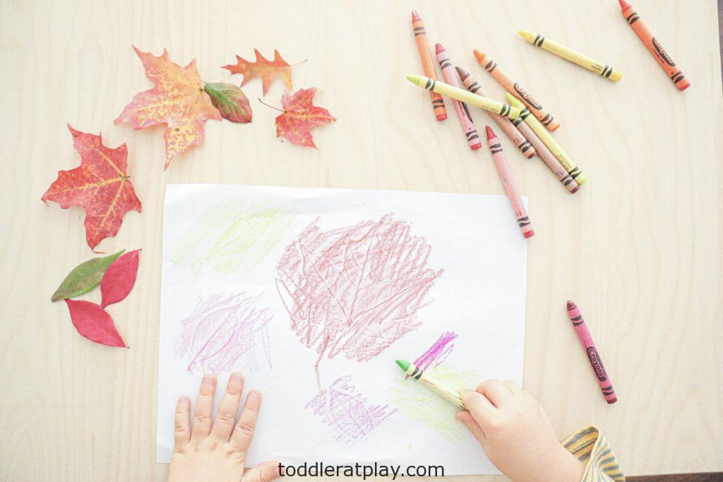 autumn leaf embossing- toddler at play (6)