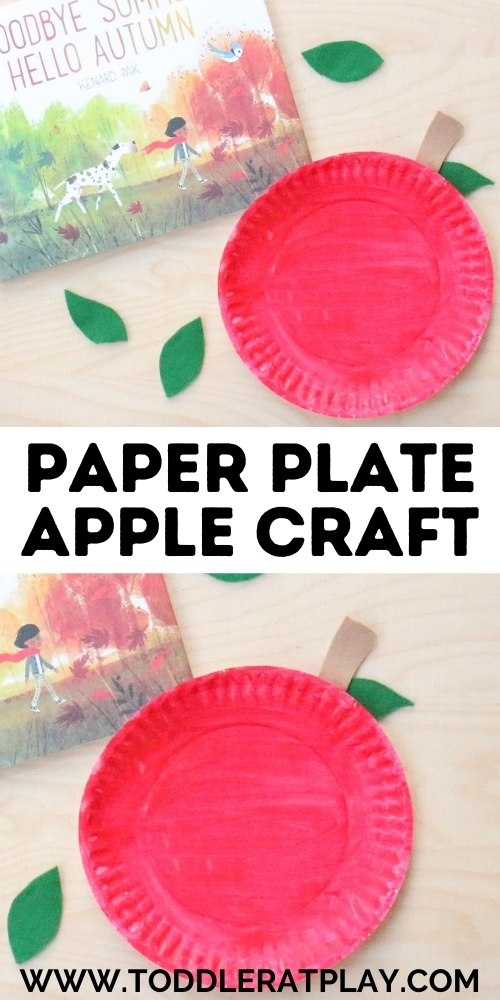 paper plate apple craft - toddler at play (2)