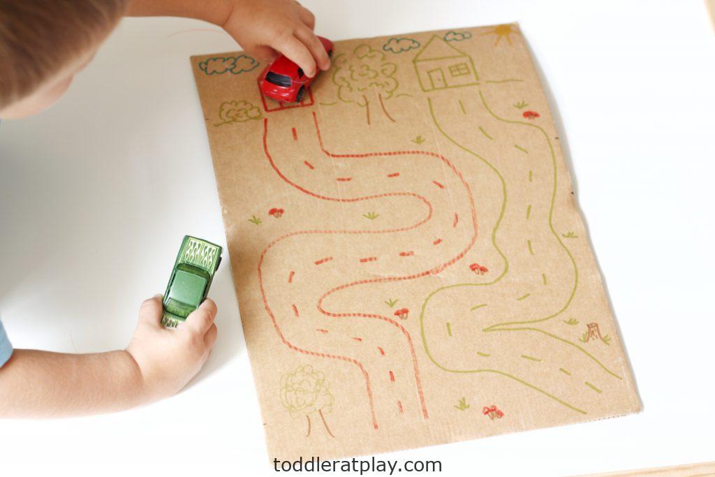cardboard road map (3)