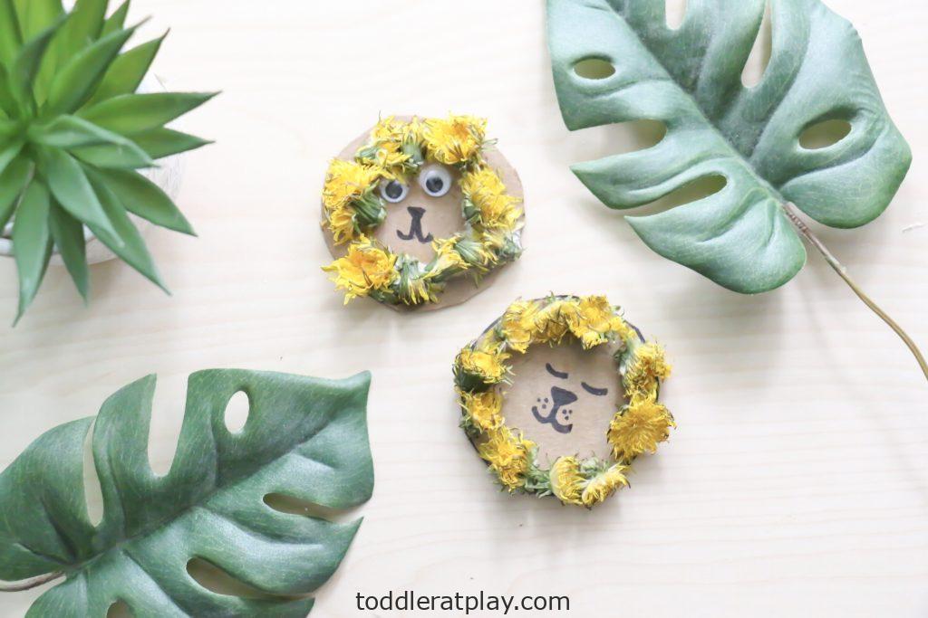 dandelion lion craft- toddler at play (5)