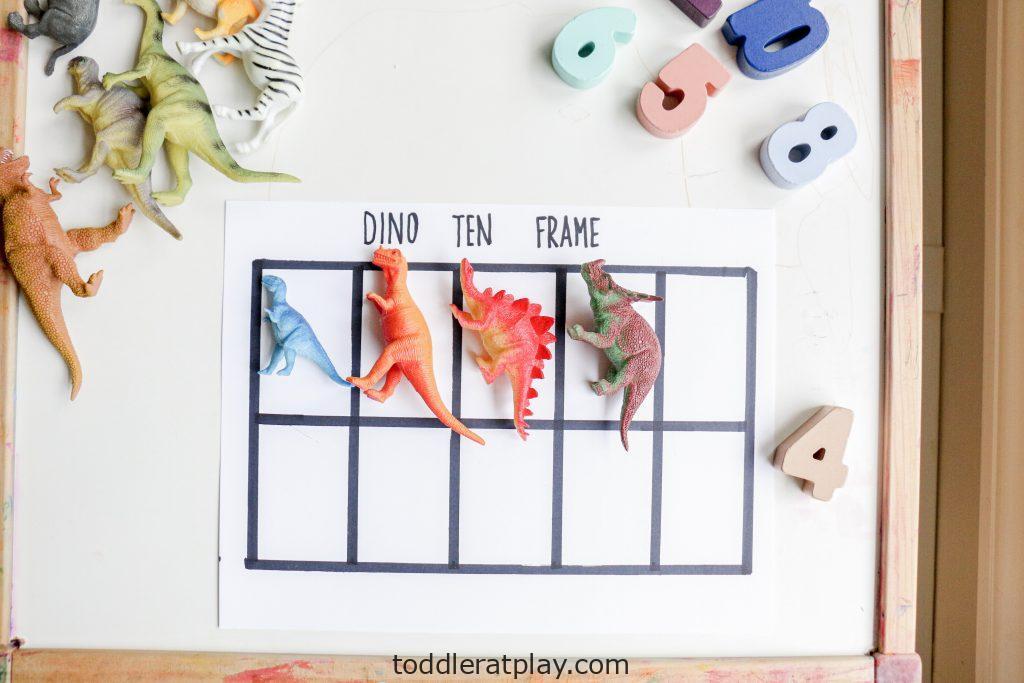 dino ten frame- toddler at play (9)