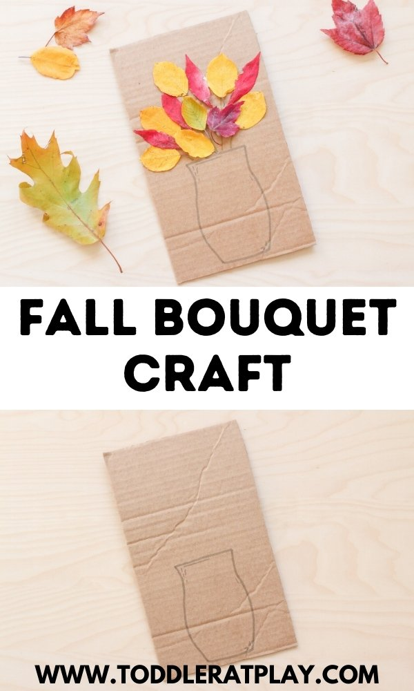 fall bouquet craft - toddler at play