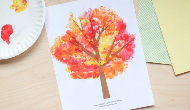 Fingerprint Fall Tree Craft