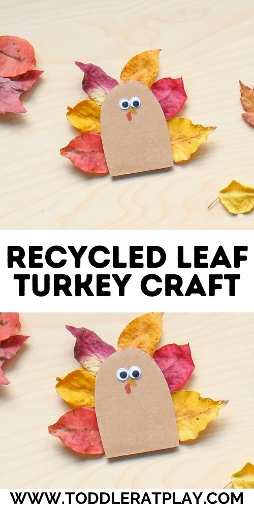 recycled leaf turkey craft - toddler at play (1)
