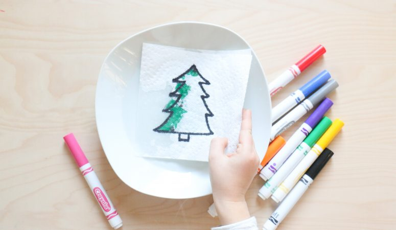 Christmas Paper Towel Reveal Activity