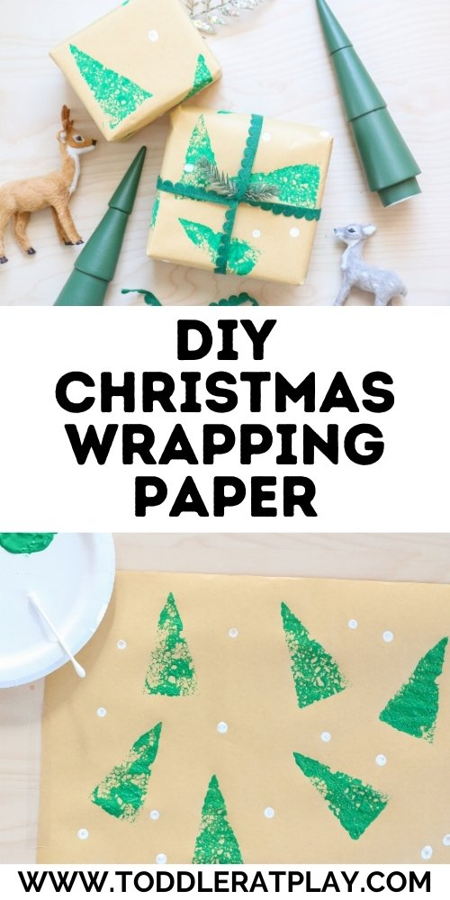 diy christmas wrapping paper- toddler at play (2)