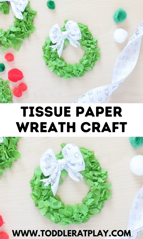 tissue paper wreath craft - toddler at play (3)