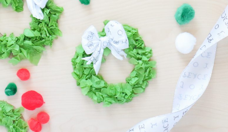 Tissue Paper Wreath Craft