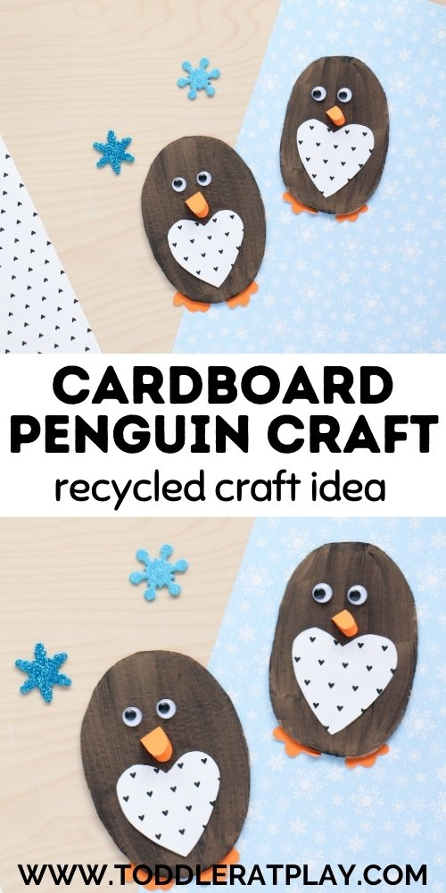 cardboard penguin craft - toddler at play (2)