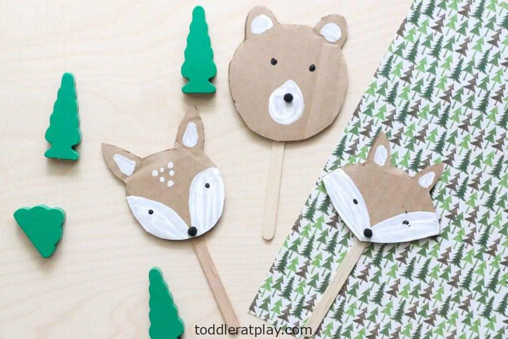 cardboard woodland animal puppets - toddler at play (4)