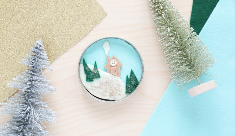 Lid Winter Scene Craft