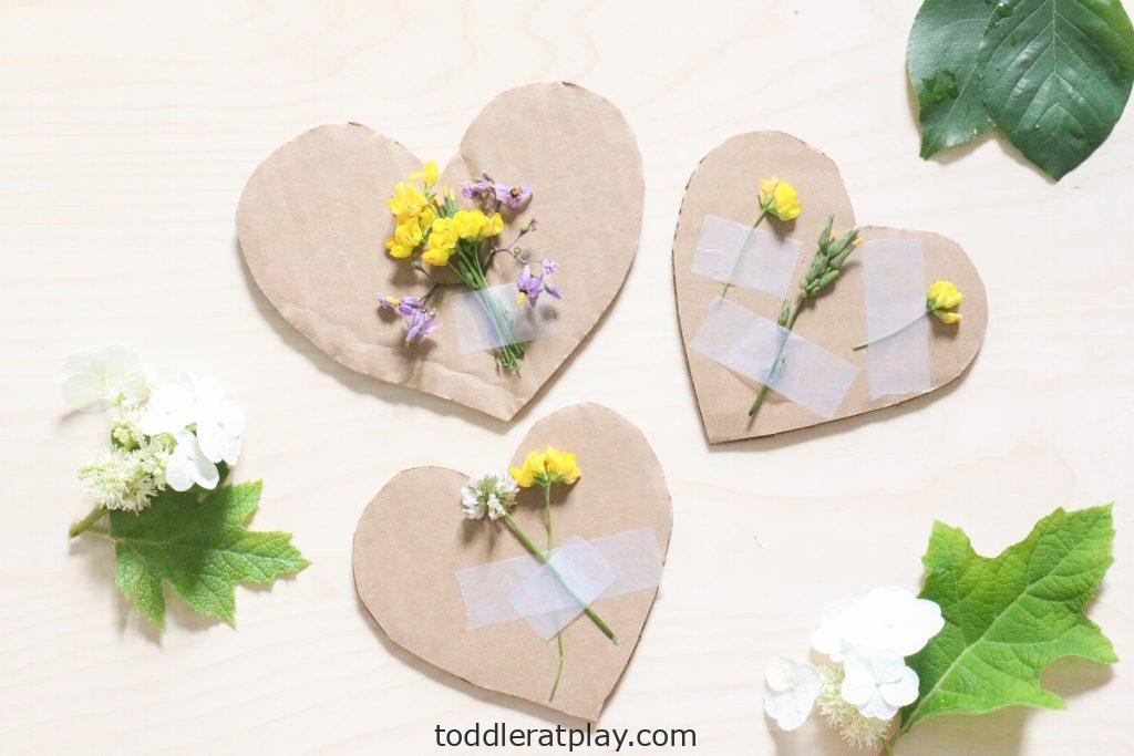 nature heart craft- toddler at play (3)
