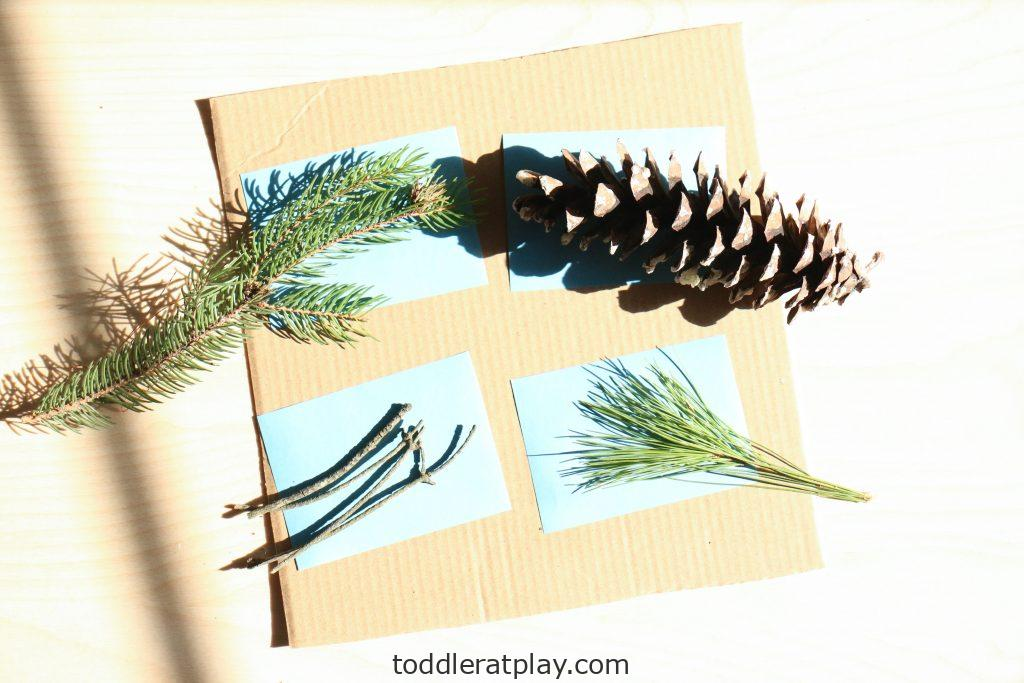 scavenger hunt using nature print paper - toddler at play (2)