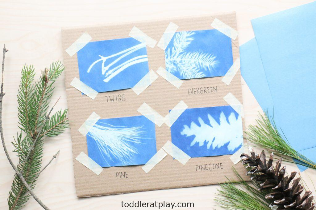 scavenger hunt using nature print paper - toddler at play (5)