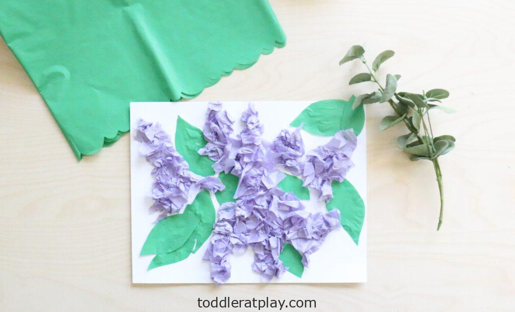 tissue paper lilac craft- toddler at play (3)