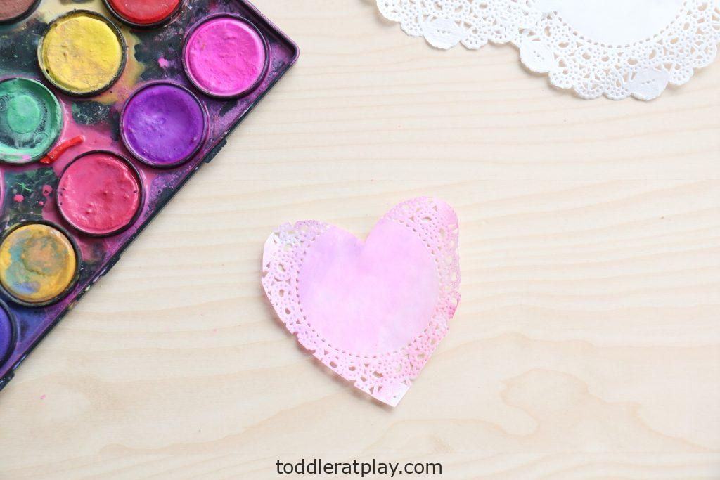 valentine's day doily garland - toddler at play (2)