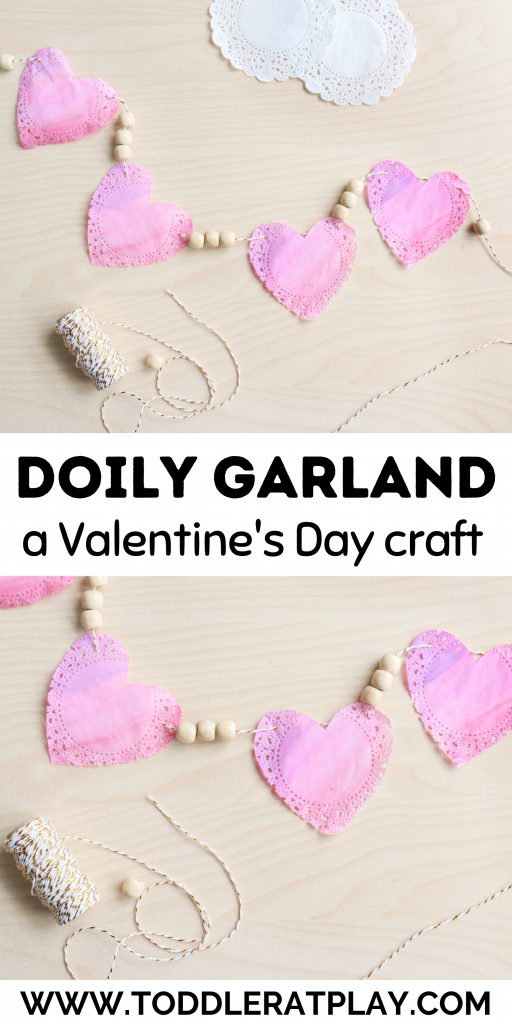 valentine's day doily garland - toddler at play (3)