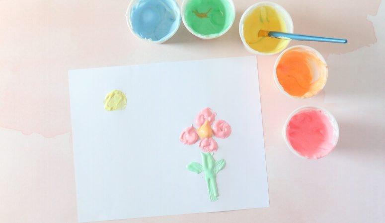3- ingredient Puffy Paint Recipe